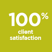 100% Client Satisfaction portrait