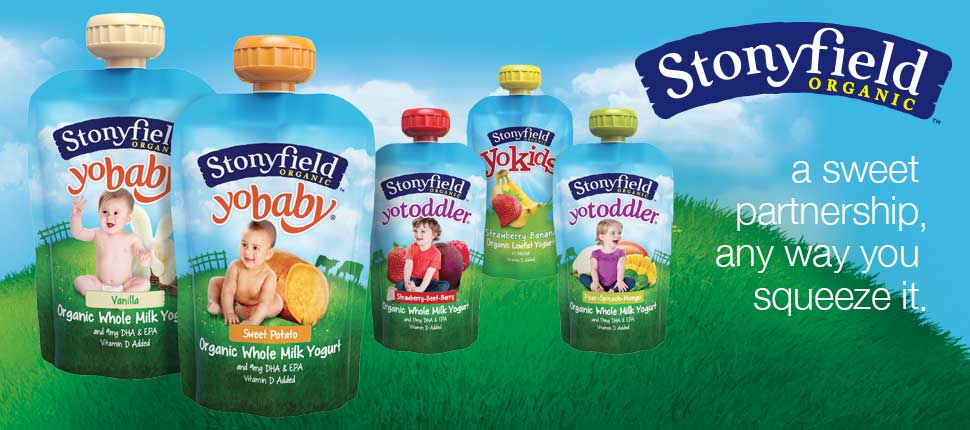 Stonyfield - a sweet partnership, any way you squeeze it