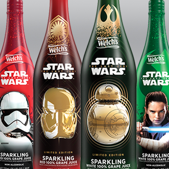 "Star Wars ""The Last Jedi"" Sparkling Product Packaging background"
