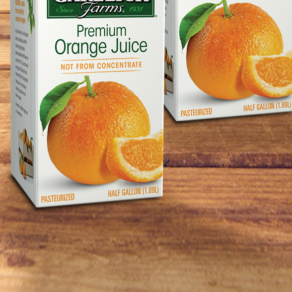 Garelick Orange Juice background